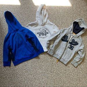 Lot of 3: 4T hoodies and jacket